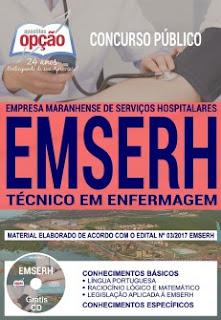 Apostila Concurso Emserh 2018 Técnico em Enfermagem