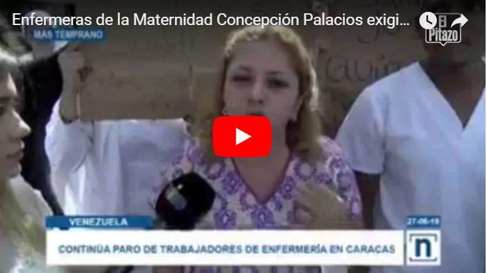 Colectivos maduristas amenazaron con dispararle a enfermeras que protestan en la Concepción Palacios