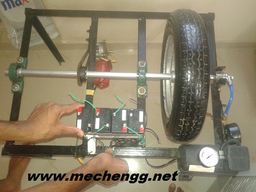 actual model of tyre inflation system