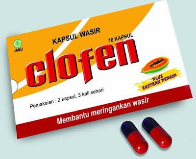 Harga Clofen Terbaru 2017 Obat Meringankan Wasir