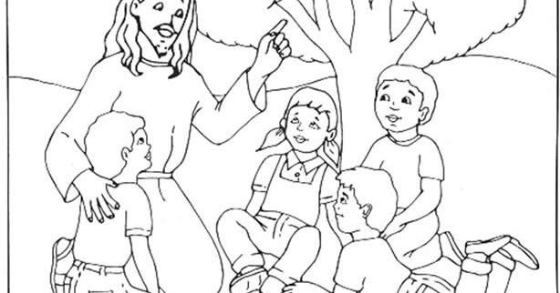 Cuentosdedoncococom Jesús Y Los Niños Para Colorear