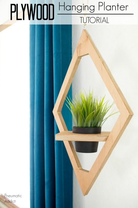 How to make a West Elm knock-off hanging planter from scrap plywood