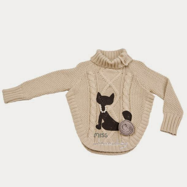 ACHICA Lourdes Cat Knitted Poncho