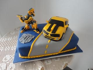 Bolo aniversário Transformers