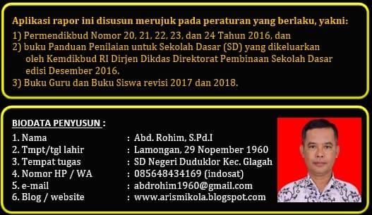 Aplikasi Raport K13 SD Karya Abd. Rohim Lamongan