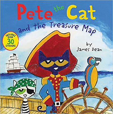 Read Pete the Cat and the Treasure Map by James Dean, hunt for pirate gold, and have a tasty treat for National Pirate Day!
