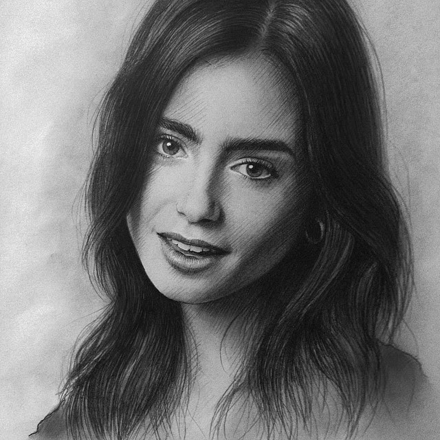 06-Lily-Collins-Berikuly-Erkin-Very-Expressive-Realistic-Portraits-www-designstack-co