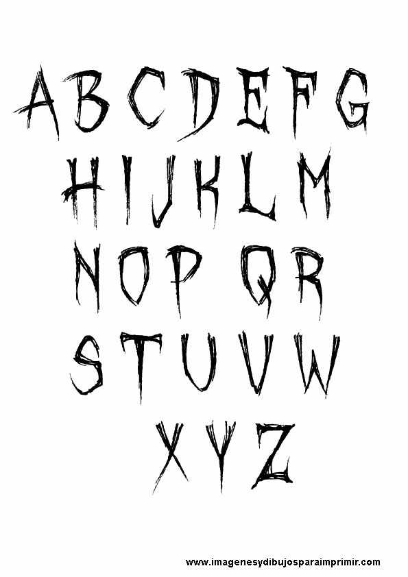 Letras de halloween para imprimir | Imagenes y dibujos ...