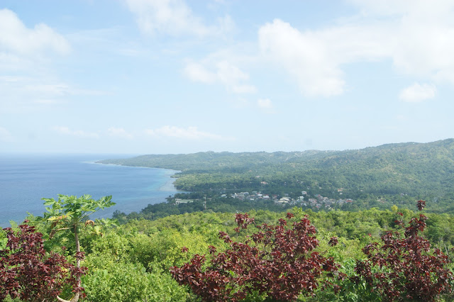 View from the viewing deck of Triad Restaurant and Coffee Shop in Larena Siquijor Philippines