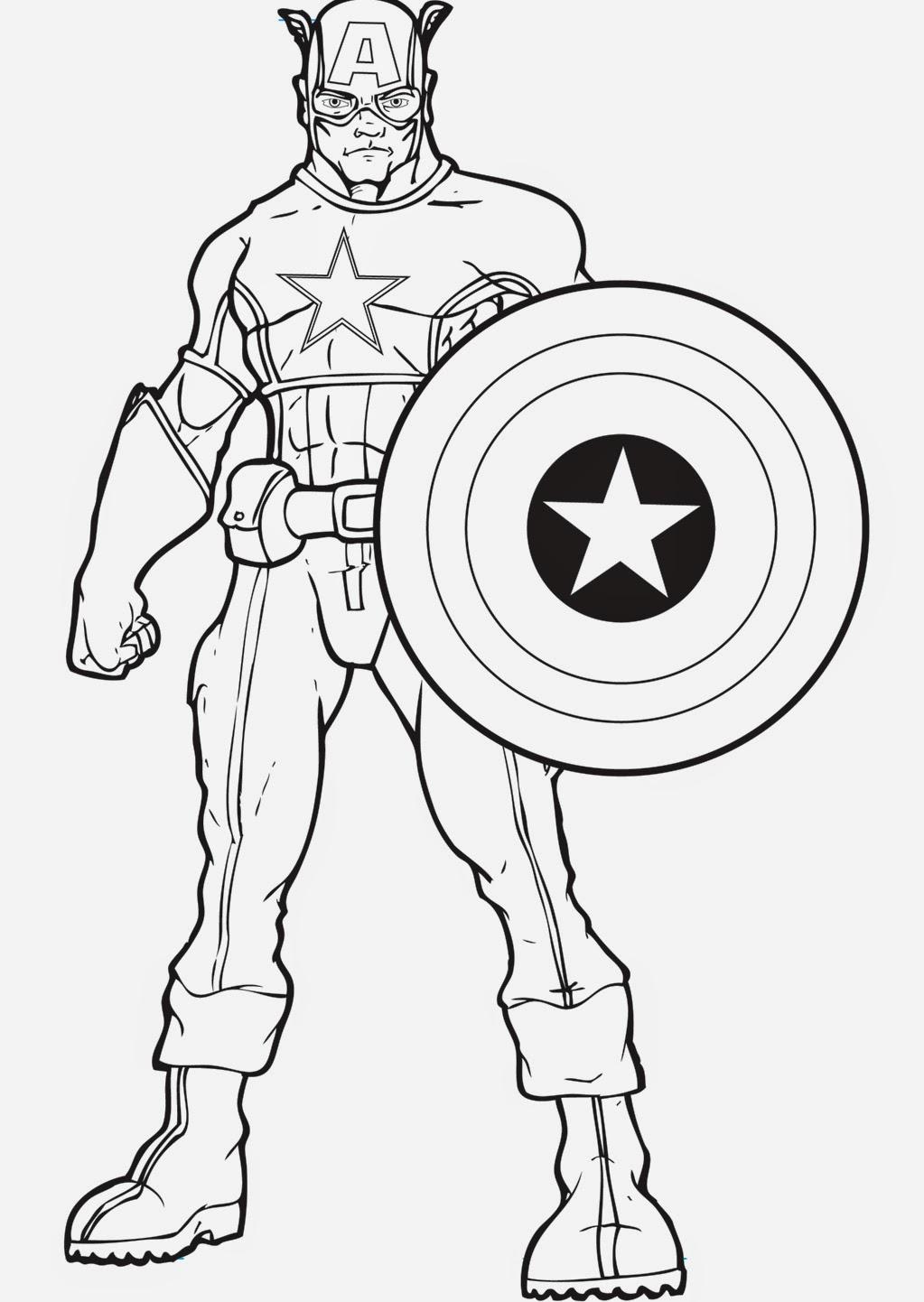 Desenhos Do Capitao America Para Colorir E Imprimir Capitan