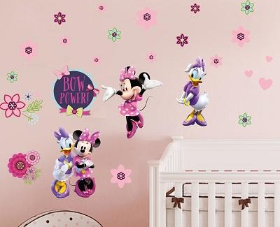 Mẫu đề can hoạt hình chuột mickey và daisy duck