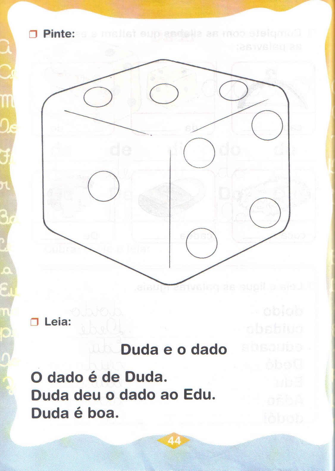 exercicios com da de di do du
