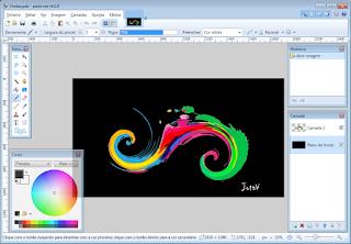 Efeito ondas coloridas no pain-net