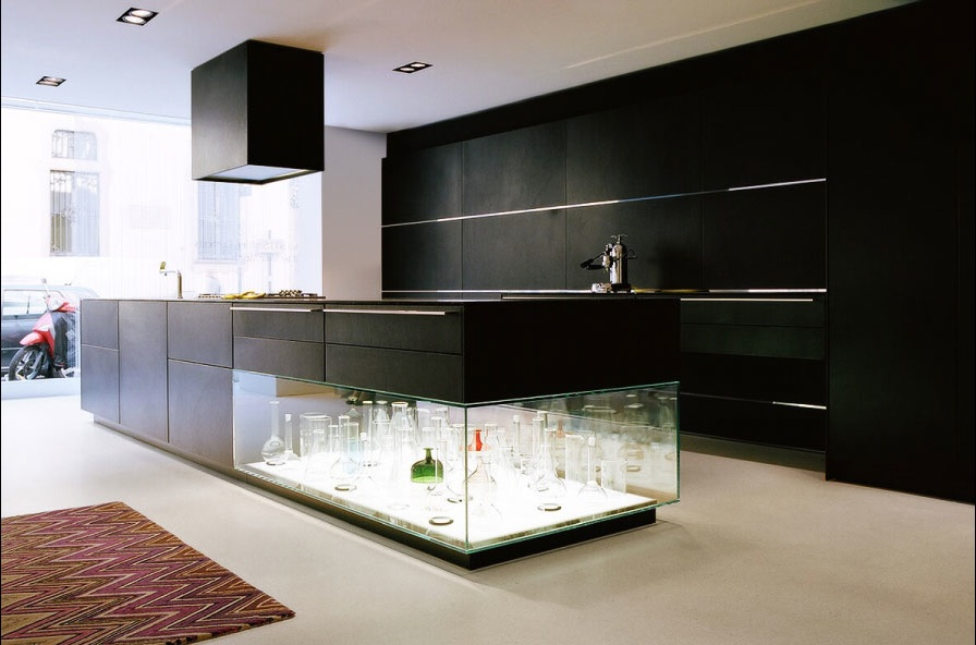 Maison Grace Bulthaup Kitchen Island with Integrated