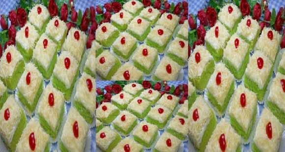 Resep Membuat Brownies Pandan Potong Lembut & Moist. Satu Resep jadi 25 Potong!