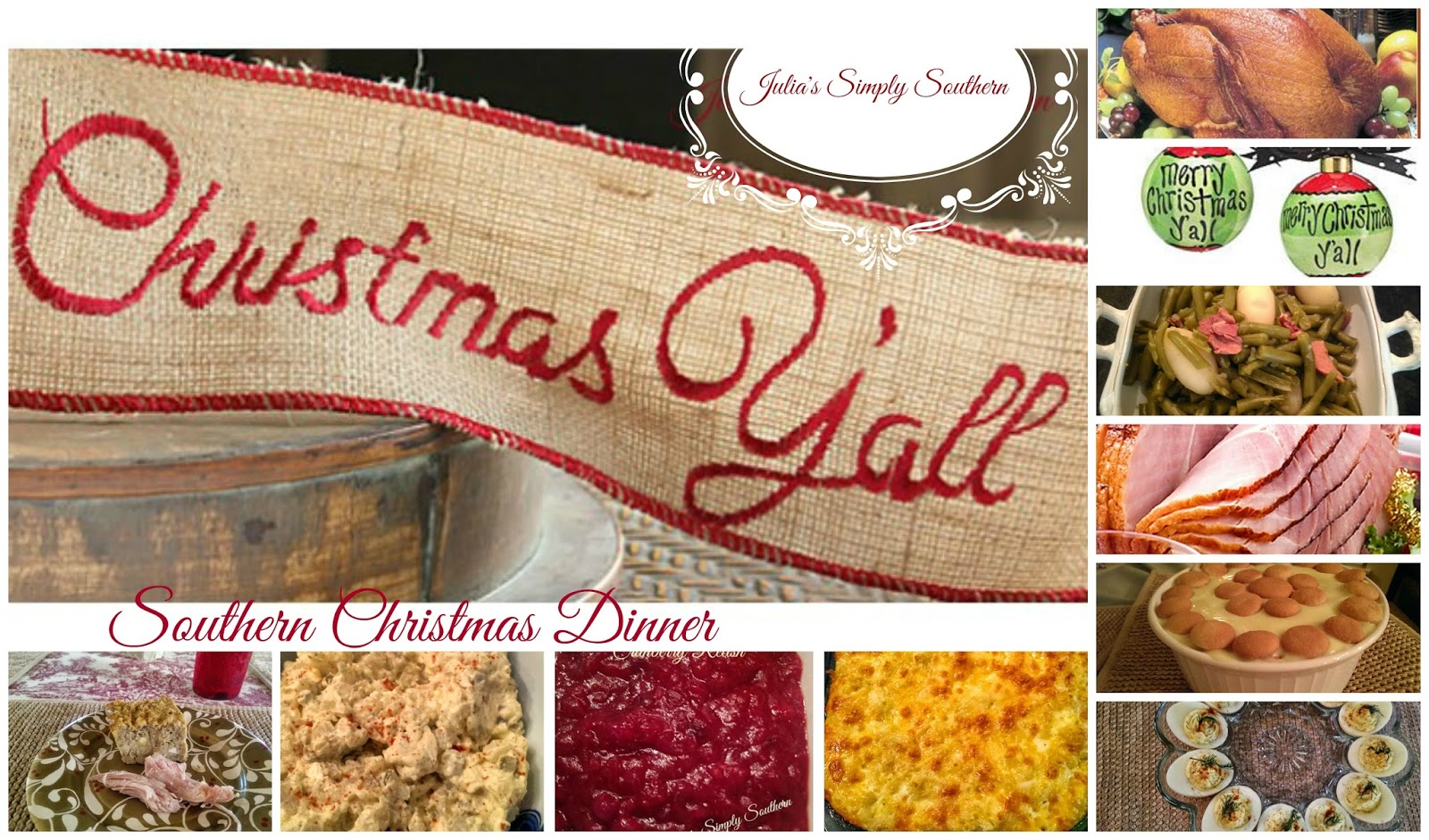 julia 39 s simply southern southern christmas dinner recipes