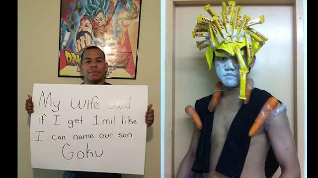 Minta Izin Anaknya Diberi Nama Goku Dengan 1 Juta Like, Liat Video Pria Ini