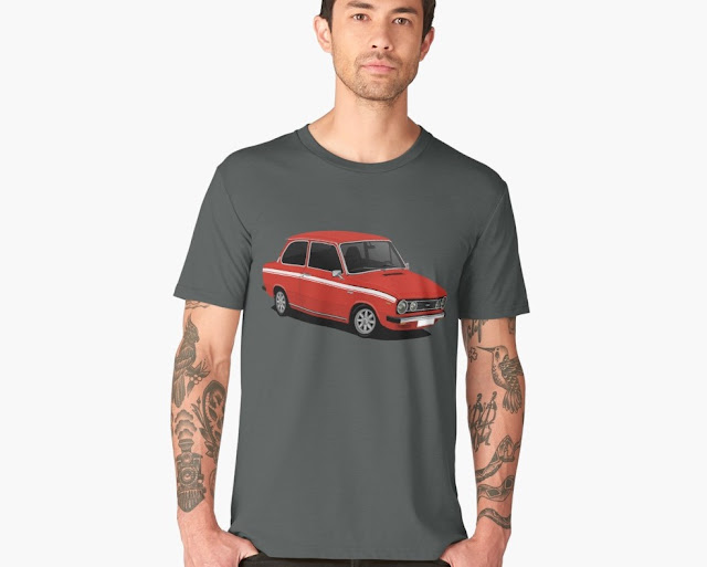 DAF 66 1300 Marathon, 70s car, T-shirts