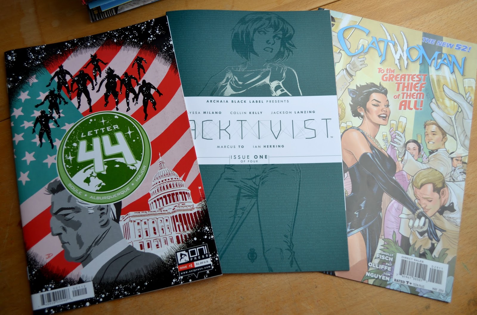 Letter 44 #1 and Hacktivist #1 comic books