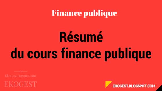 finance publique