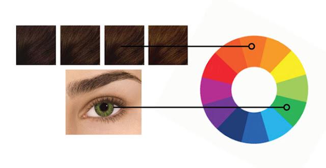 Коричневые волосы и зеленые глаза