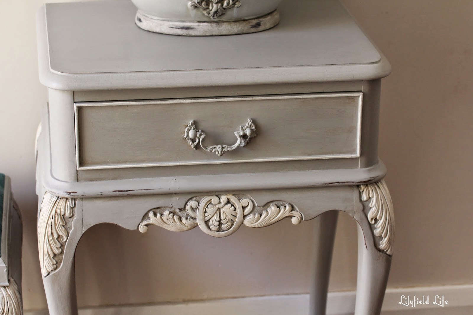 French Bedroom Table And Side Hand Painted In Sydney By Lilyfield Life