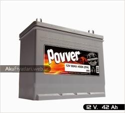 povver akü silver serisi 12 volt 42 amper