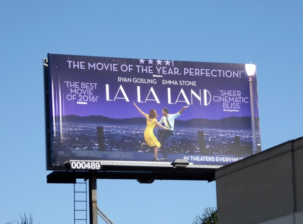 La La Land Movie of the year Perfection billboard