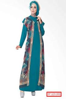 Gambar Gamis Batik Kombinasi Bolero