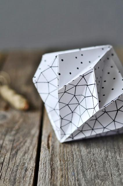 DIY Origami Diamanten aus Papier