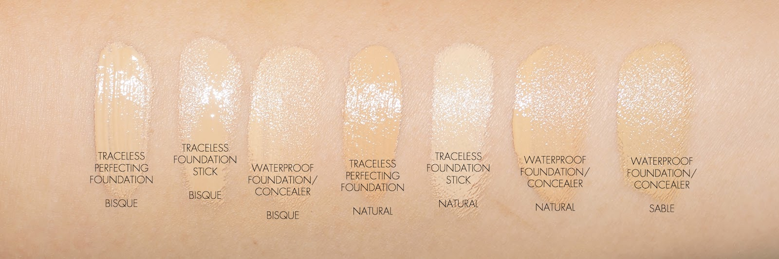 The Beauty Look Book - Tom Ford Foundation Swatches