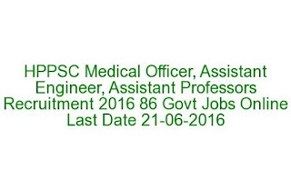 HPPSC Medical Officer, Assistant Engineer, Assistant Professors Recruitment 2016 86 Govt Jobs Online