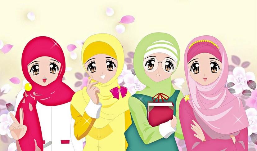 4 sahabat muslimah berbeda karakter ~ nuurun qolbii