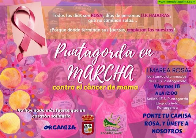 Puntagorda se suma a la Marcha Rosa en contra del Cancer de Mama