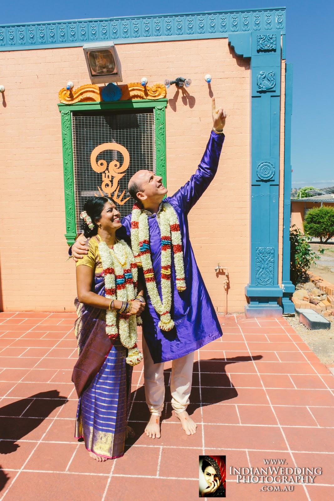 Showing of the Twin Stars Arundhati and Vashistha - Hindu Wedding Ritual