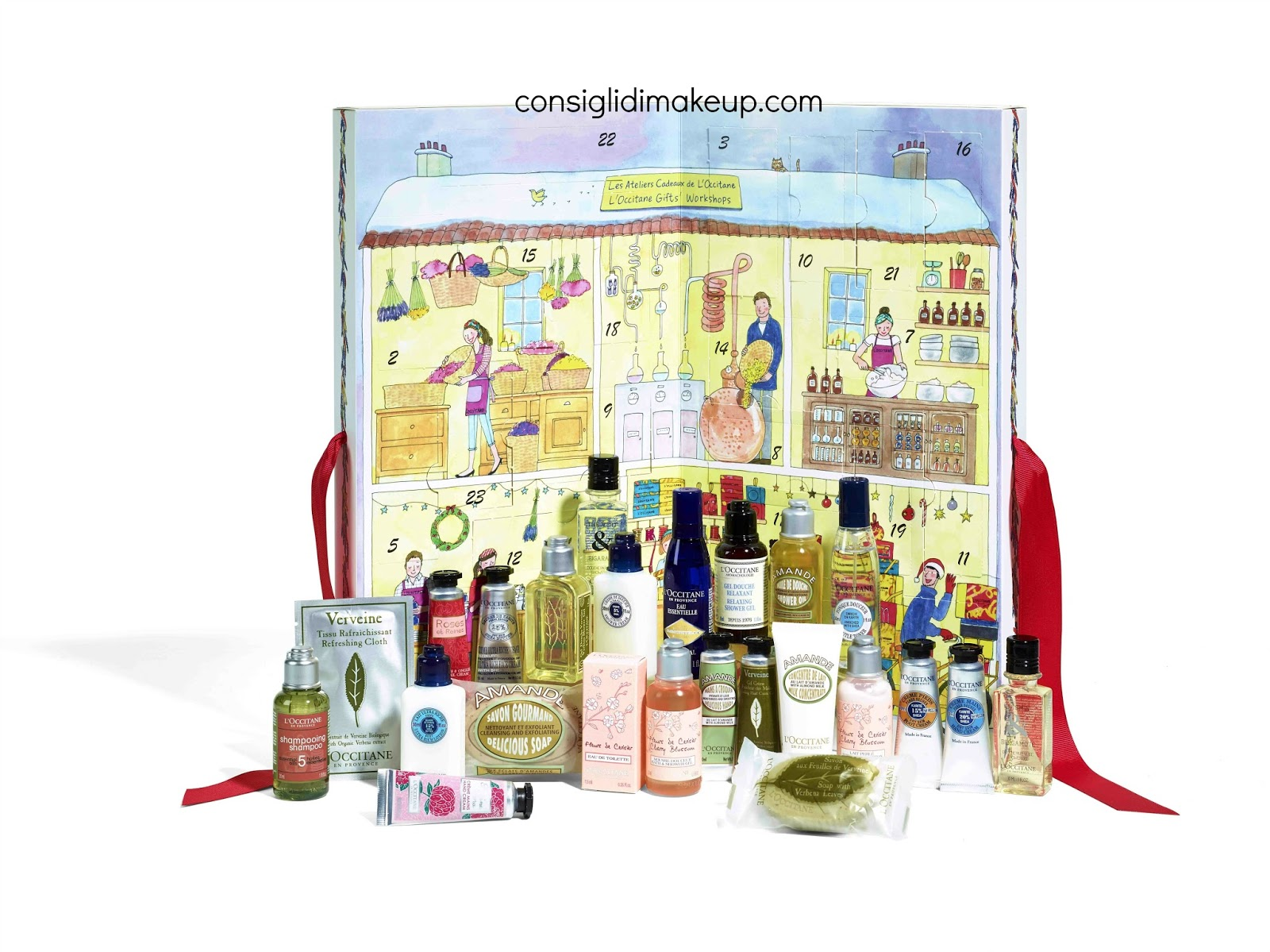 Calendario Avvento Makeup.Preview Calendario Dell Avvento 2016 L Occitane