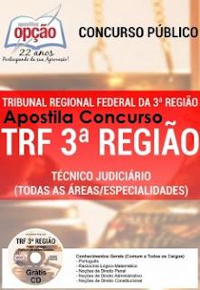 Apostila para concurso TRF 3ª Região - Técnico Judiciário
