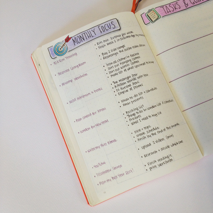 This is how I set up my Bullet Journal for November. I'm focusing on my goals and tasks that need to be done. www.christina77star.co.uk
