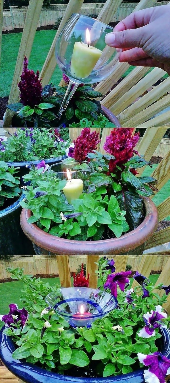 Creative diy gardening ideas with recycled items for Garden idea diy