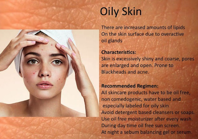Oily skincare products and daily care