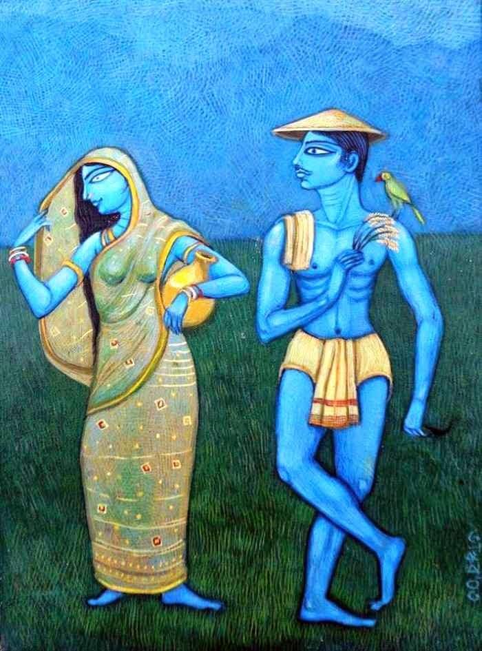 Индийский художник. Bhaskar Lahiri