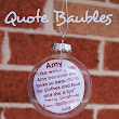 Teacher Gifts - Quote Baubles