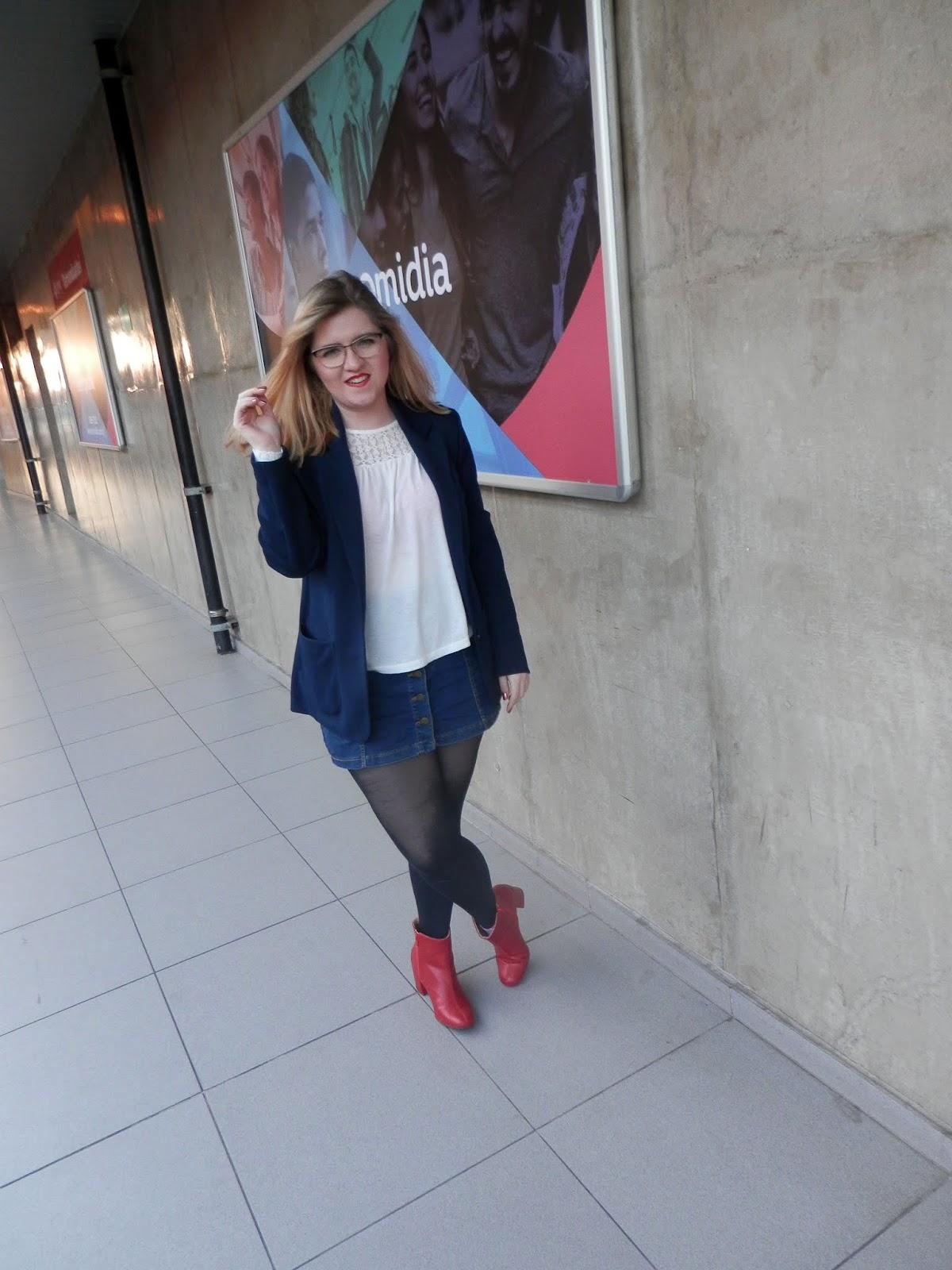 look com bota vermelha
