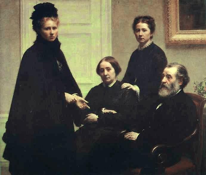 A Família Dubourg - Henri Fantin-Latour - Suas melhores pinturas ~ francês