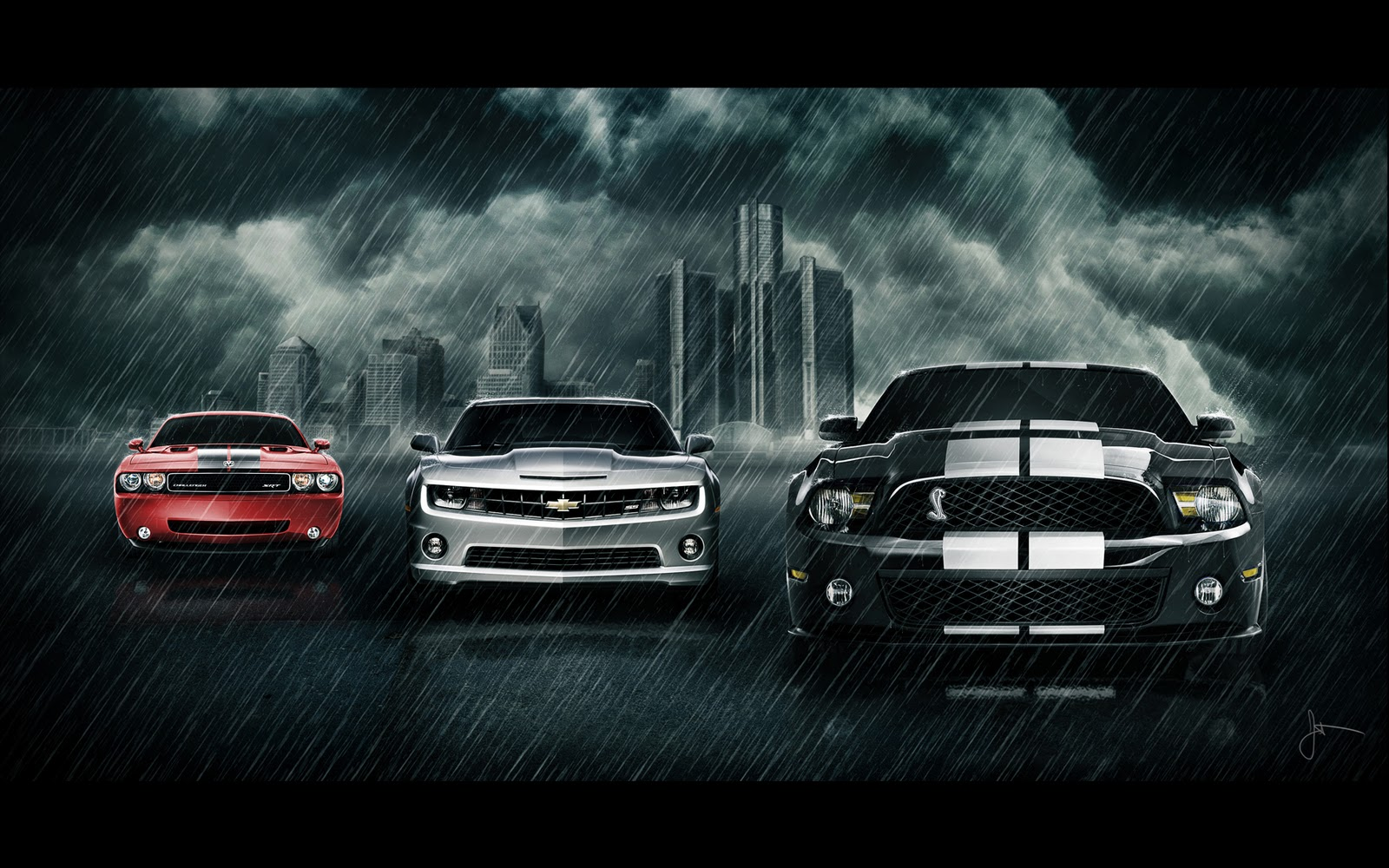 clic muscle cars wallpaper 1