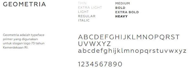 font untuk logo hut ri ke 73 tahun 2018