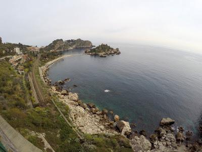 Wyspa Isola Bella Taormina Sycylia zima