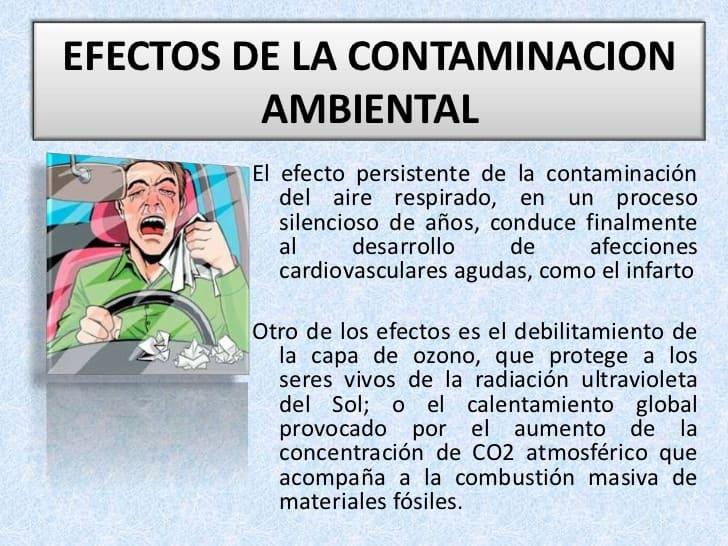 efectos de la contaminacion para niños