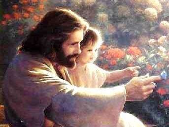 Imagen de Jesús cargando a un niño