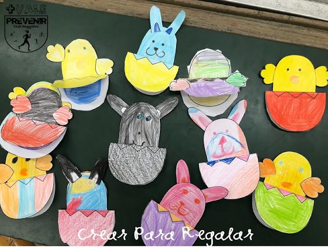 manualidades para niños huevos de pascua papel